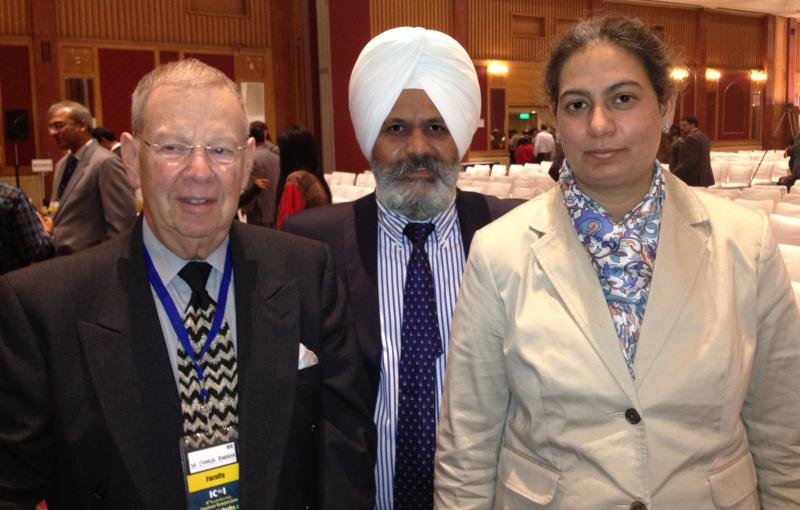 From right to left  Dr Charles Babbush , Dr A S Cheema , Dr Rayman